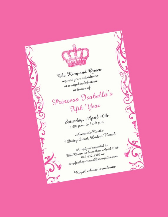 Formal Birthday Invitation Wording Elegant I Really Like the Wording Of This Princess Invitation but