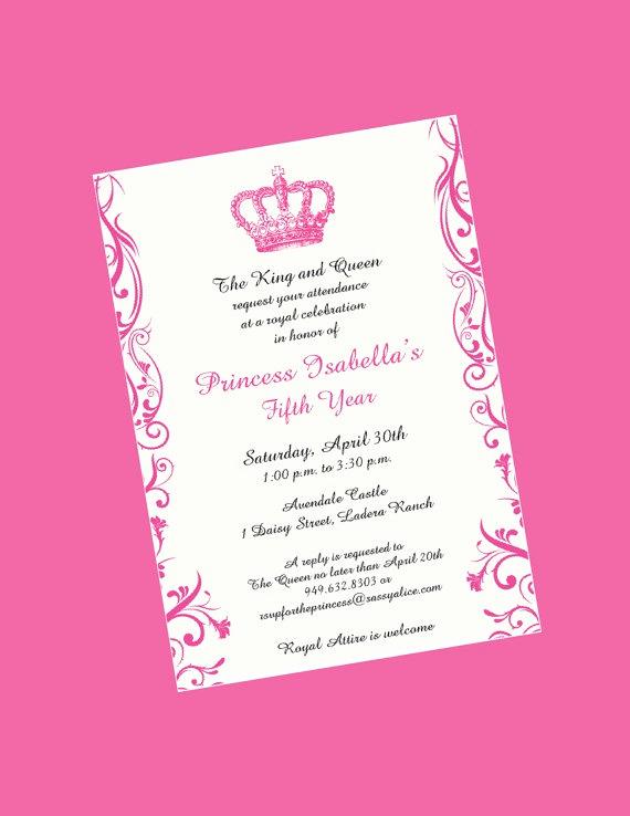 Formal Birthday Invitation Wording Elegant I Really Like the Wording Of This Princess Invitation but