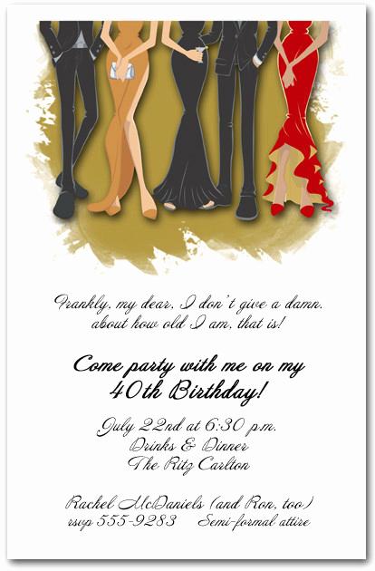 Formal Birthday Invitation Wording Inspirational Legs formal attire Party Invitation