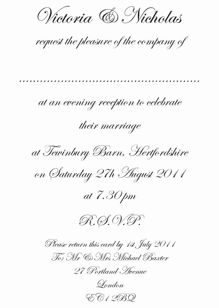 Formal Birthday Invitation Wording Luxury formal Wedding Invitation Wording