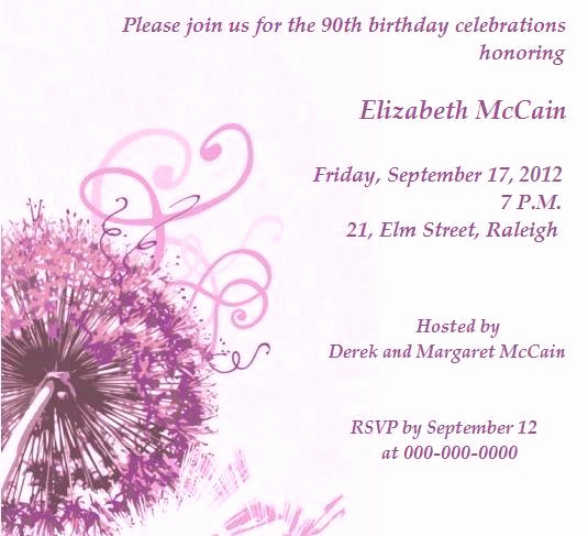 formal birthday invitations
