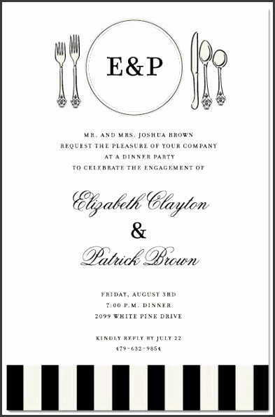 Formal Dinner Invitation Templates Beautiful 6 Business Dinner Invitation Template Free