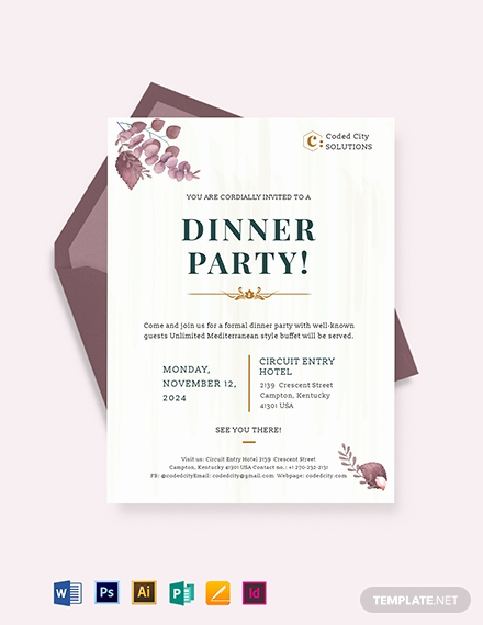 Formal Dinner Invitation Templates Best Of 25 Free Dinner Invitation Templates [download Ready Made