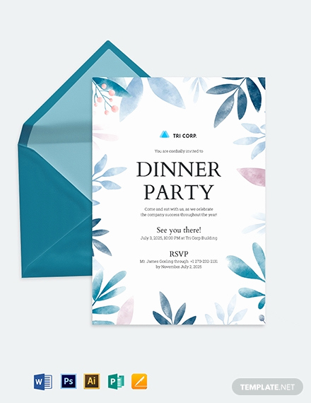 Formal Dinner Invitation Templates Best Of formal Invitation Template Download 361 Invitations In