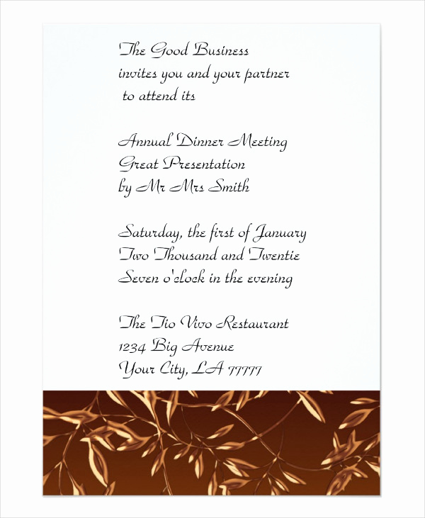 Formal Dinner Invitation Templates Elegant 67 Dinner Invitation Designs Psd Ai