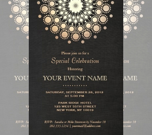 Formal Dinner Invitation Templates Fresh Gala Dinner Invitation Template Free Cobypic