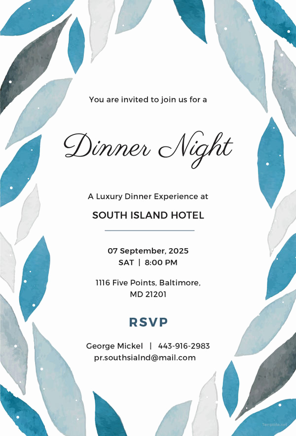 Formal Dinner Invitation Templates Lovely Dinner Invitation Template 44 Free Psd Vector Eps Ai