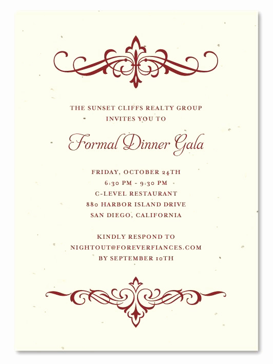 Formal Dinner Invitation Templates Unique 31 Best Images About Plantable Gala Business Invitations