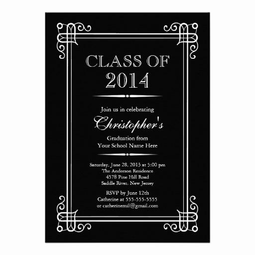 Formal Graduation Invitation Wording Beautiful formal Elegant Class Of 2014 Graduation Party 5x7 Paper