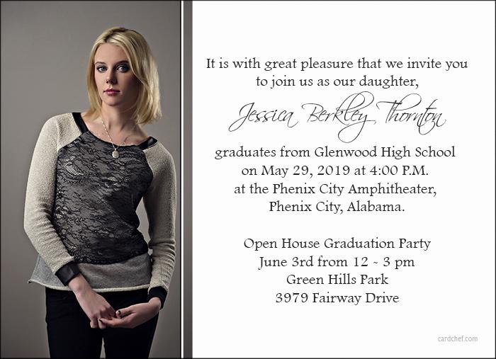 Formal Graduation Invitation Wording Beautiful Graduation Announcement and Invitation Wording Ideas