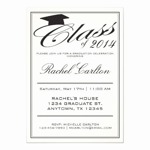 Formal Graduation Invitation Wording Beautiful Simple formal Graduation Celebration Invitation
