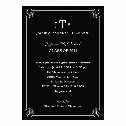 Formal Graduation Invitation Wording Fresh Personalized Ffa Invitations