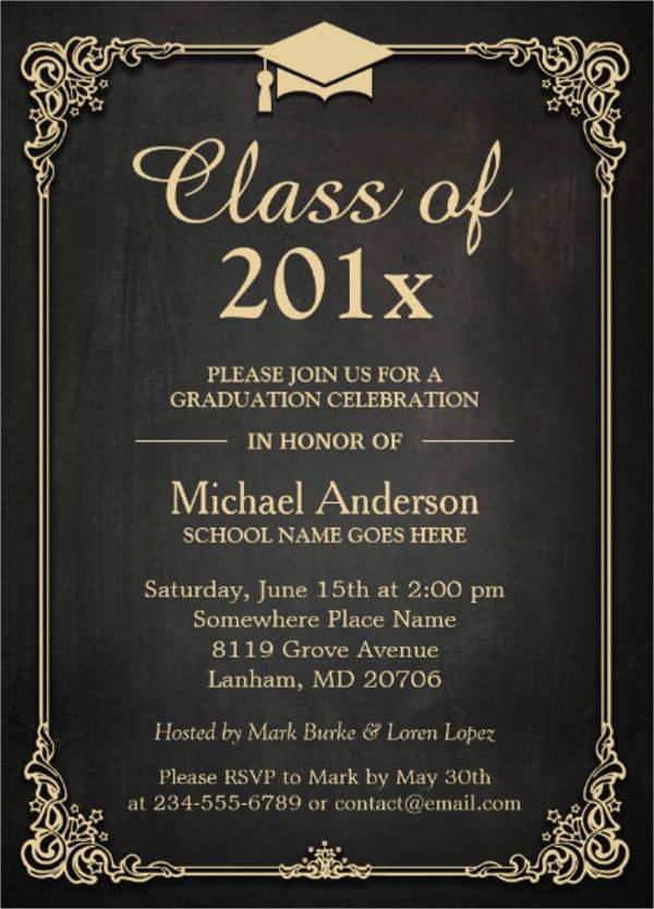 Formal Graduation Invitation Wording Lovely 27 formal Invitation Templates