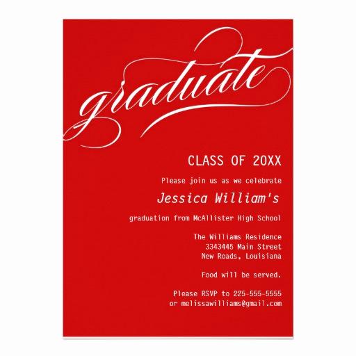 "Formal Graduation Invitation Wording Luxury formal Graduation Party 5"" X 7"" Invitation Card"
