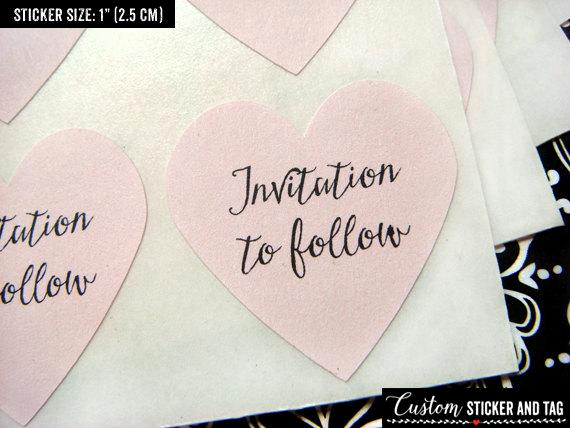 Formal Invitation to Follow Elegant Invitation to Follow Stickers 1 Heart Stickers Save
