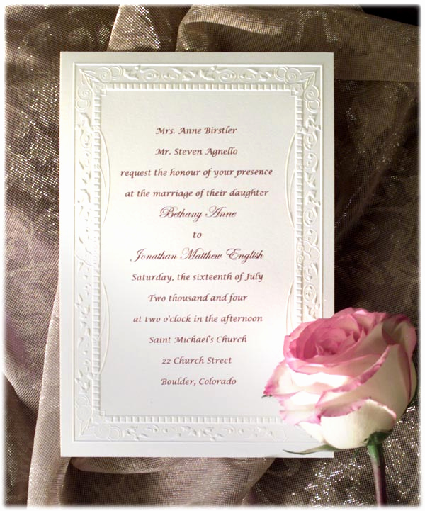 Formal Invitation to Follow Inspirational formal Wedding Invitation Wording Etiquette Parte Two