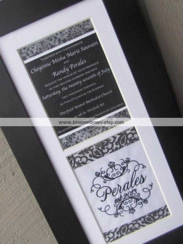 Framed Wedding Invitation Keepsake Best Of Custom Framed Wedding Invitation Keepsake Weddbook