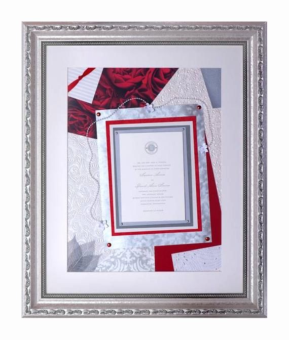 Framed Wedding Invitation Keepsake Best Of Framed Large Wedding Invitation Keepsake Collage for