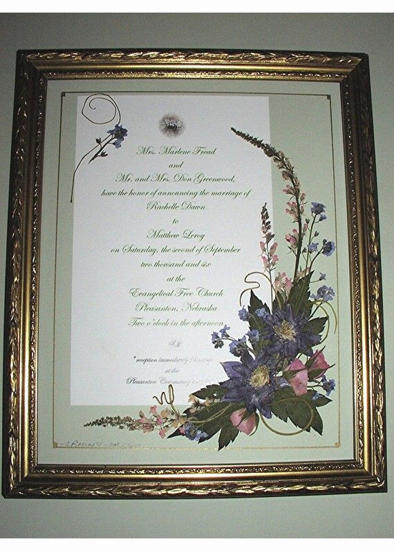Framed Wedding Invitation Keepsake Fresh 15 Best Images About Wedding Invitations Framed Keepsake
