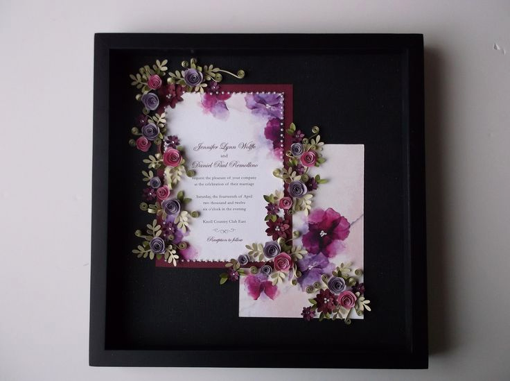 Framed Wedding Invitation Keepsake Luxury 13 Best Quilled Wedding Framw Images On Pinterest