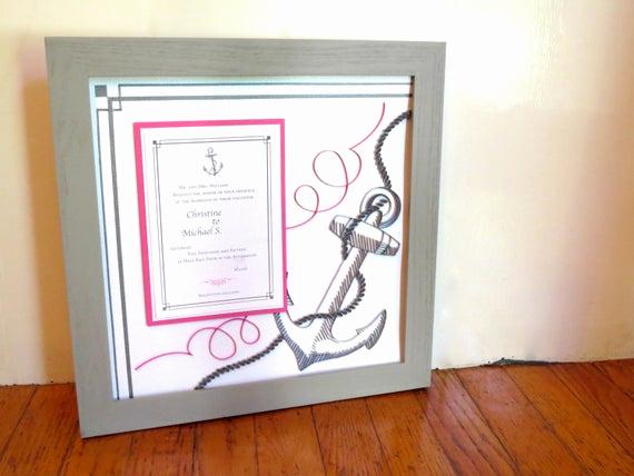 Framed Wedding Invitation Keepsake Luxury Framed Wedding Invitation Keepsake Custom Couple Gift