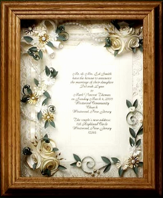 Framed Wedding Invitation Keepsake Unique Framed Wedding Invitation Wedding T Framed Ivory Wedding