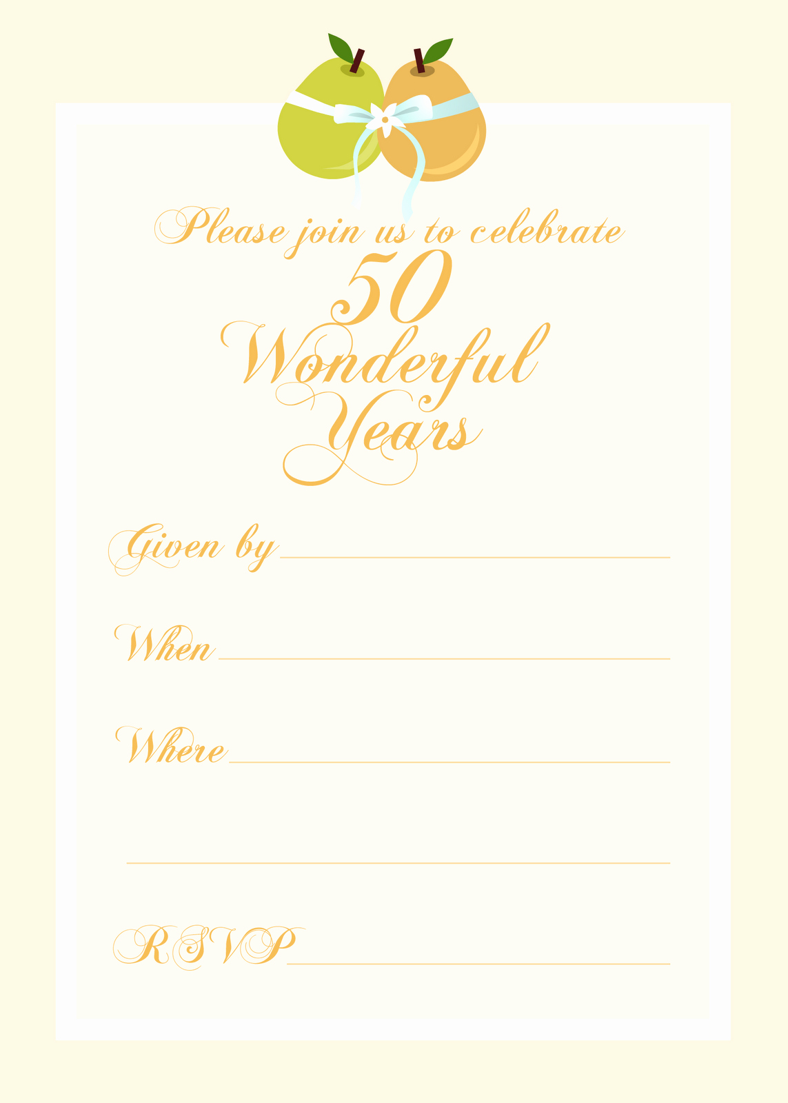 Free Anniversary Invitation Templates Awesome Free Printable Party Invitations Free 50th Wedding