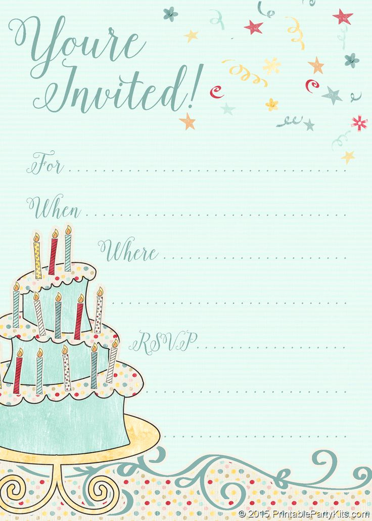 Free Anniversary Invitation Templates Awesome Free Printable Whimsical Birthday Party Invitation