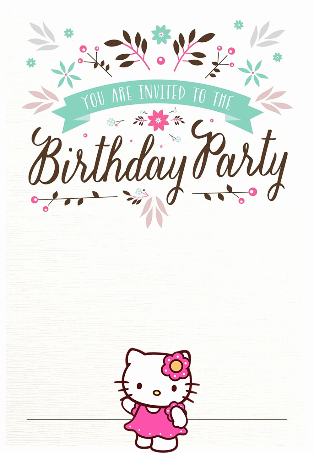 Free Anniversary Invitation Templates Elegant Hello Kitty Free Printable Invitation Templates