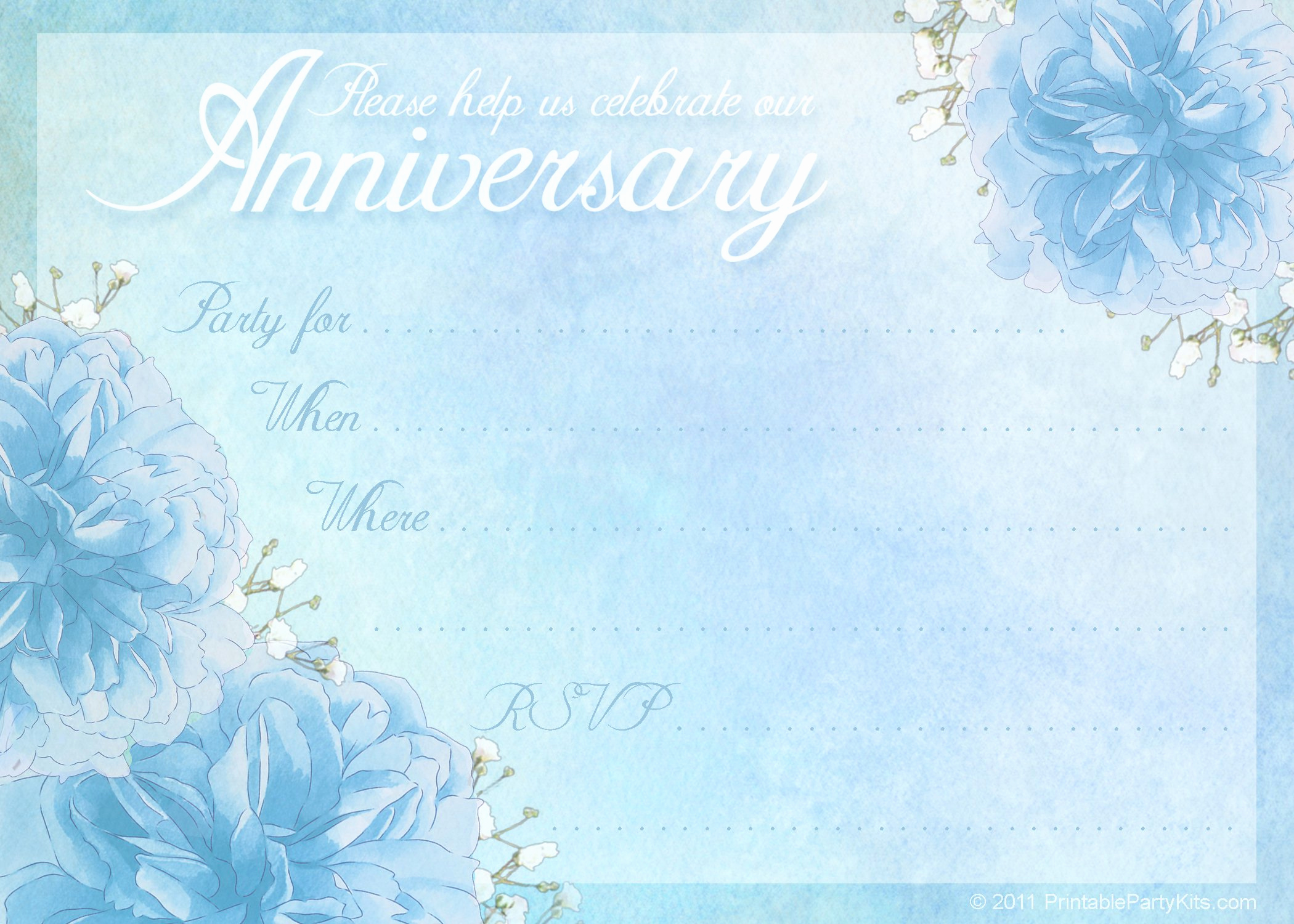 Free Anniversary Invitation Templates Lovely Anniversary Party Invitations Templates Free