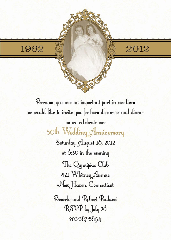 Free Anniversary Invitation Templates New 50th Anniversary Invitation Template