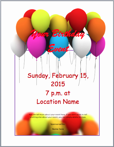 Free Art Party Invitation Templates Best Of Birthday Party Invitation Flyer Template 3 Printable