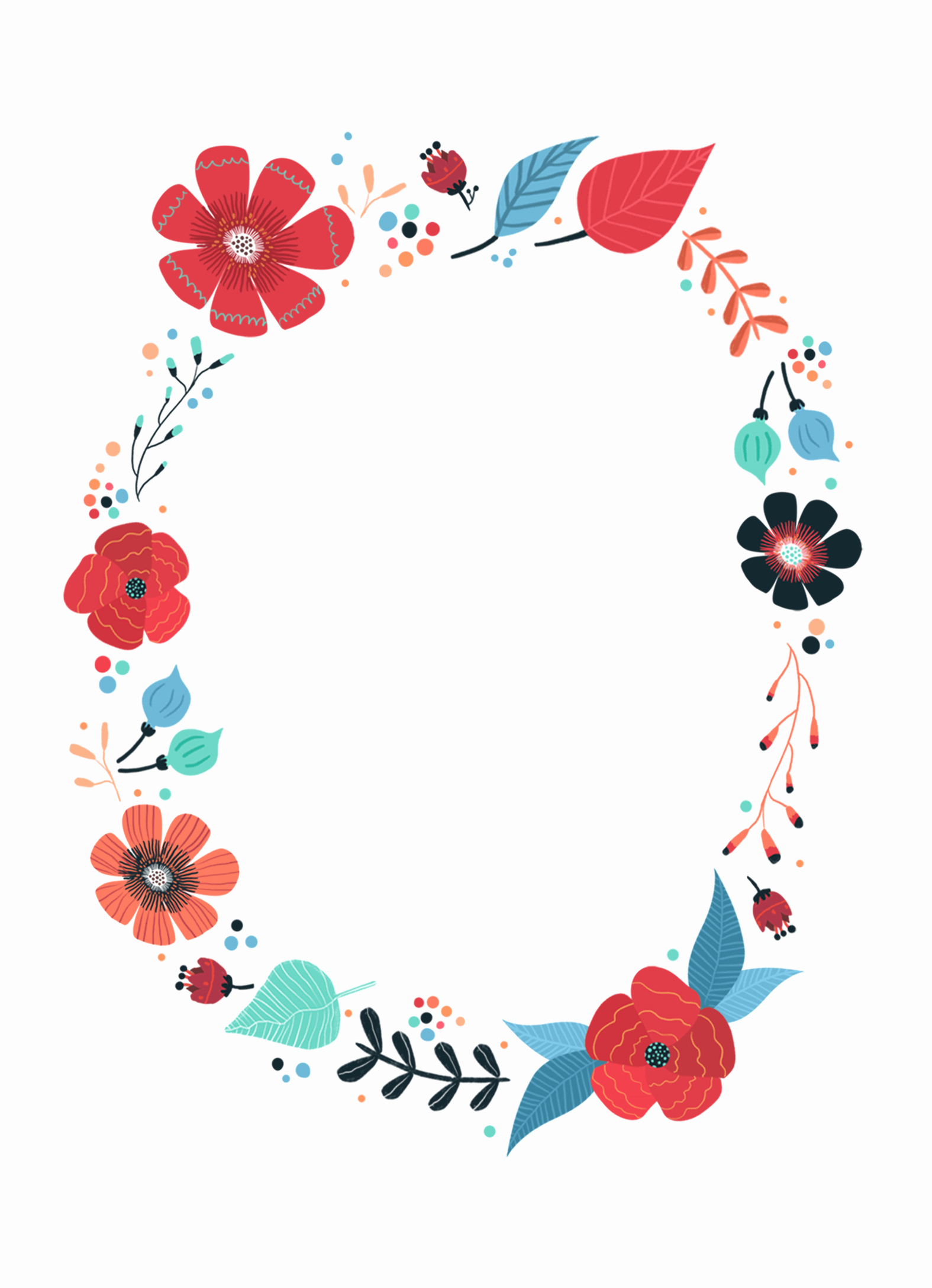 Free Art Party Invitation Templates Elegant Blooming Wreath Free Printable Birthday Invitation