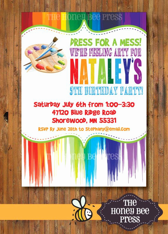 Free Art Party Invitation Templates Lovely 25 Best Ideas About Art Party Invitations On Pinterest