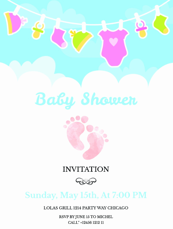 Free Baby Shower Invitation Templates Elegant 22 Best Baby Shower Invitation Templates Editable Psd