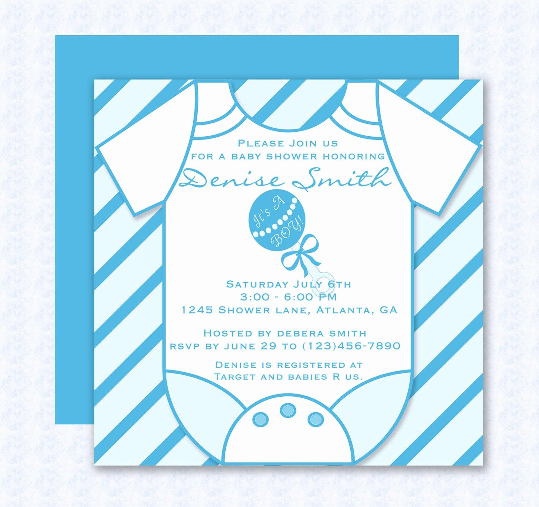 Free Baby Shower Invitation Templates Elegant Blue Esie Baby Shower Invitation Editable Template