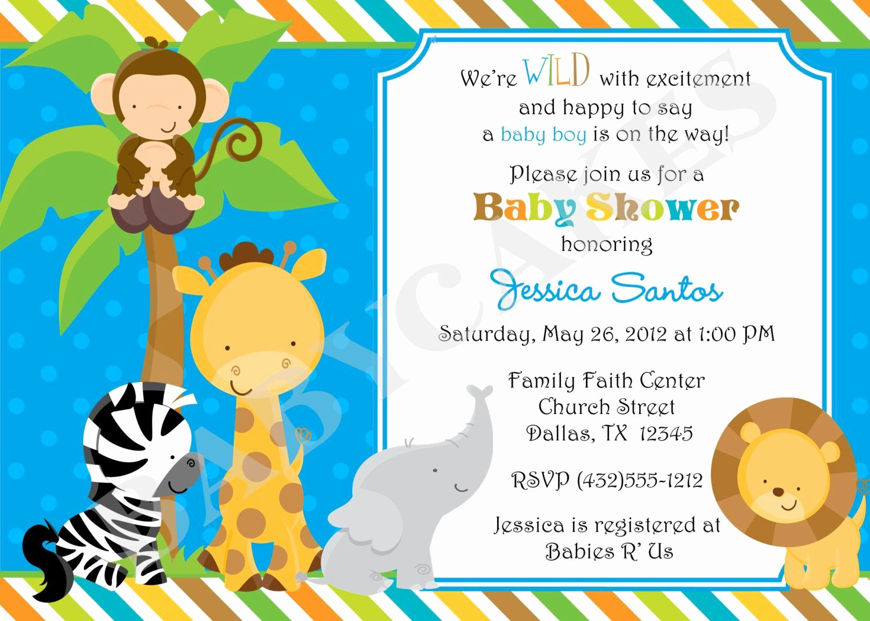 Free Baby Shower Invitation Templates Unique Free Jungle Invitation Template