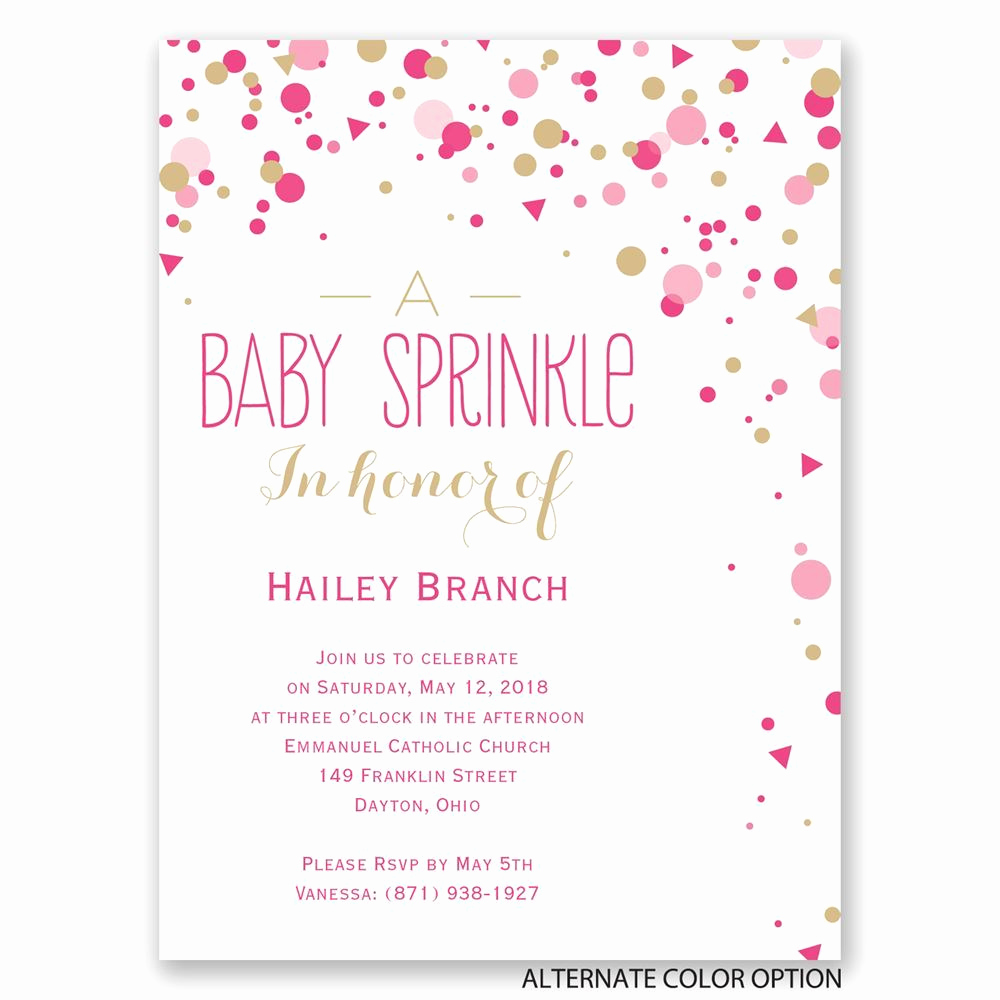 Free Baby Sprinkle Invitation Templates Awesome Bright Sprinkles Petite Baby Shower Invitation