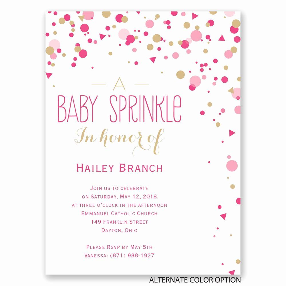 Free Baby Sprinkle Invitation Templates Awesome Bright Sprinkles Petite Baby Shower Invitation