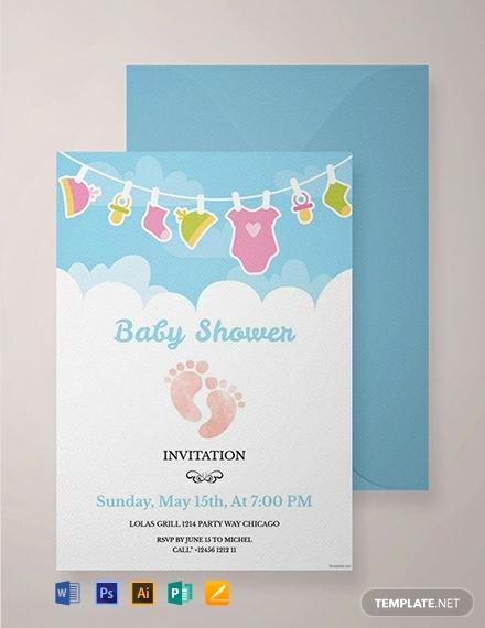 Free Baby Sprinkle Invitation Templates Best Of 1099 Free Invitation Templates Pdf Word