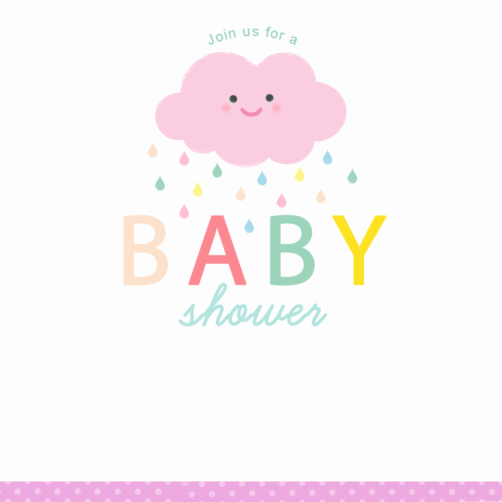 Free Baby Sprinkle Invitation Templates Elegant Shower Cloud Free Printable Baby Shower Invitation