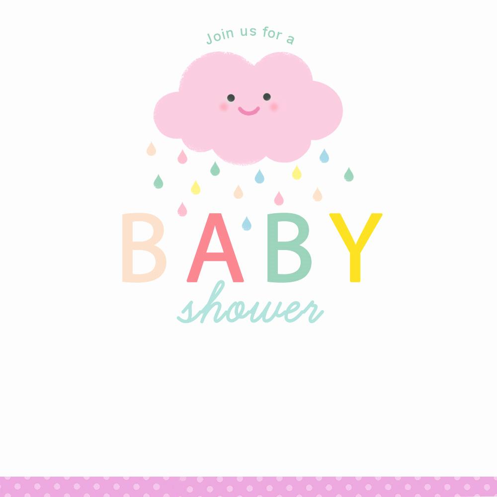Free Baby Sprinkle Invitation Templates Elegant Shower Cloud Free Printable Baby Shower Invitation