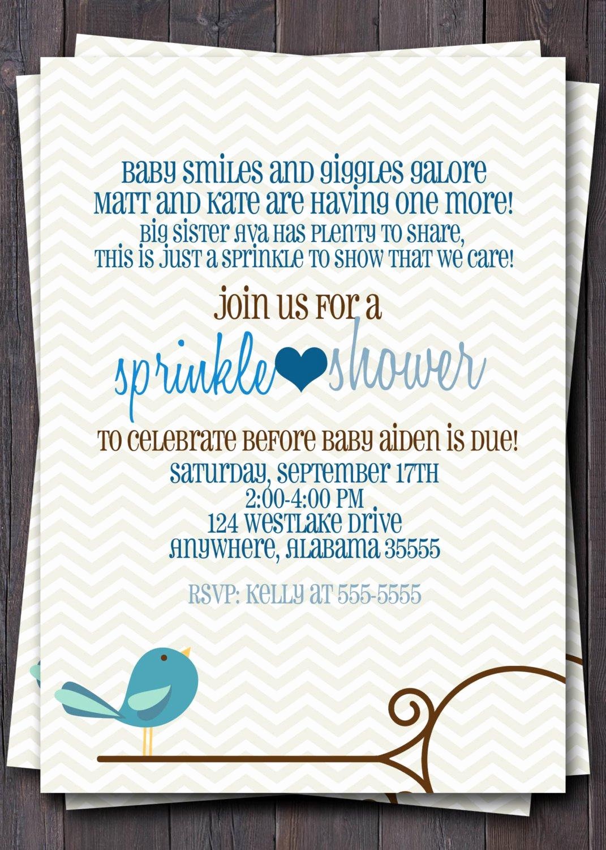 Free Baby Sprinkle Invitation Templates Inspirational Baby Boy Sprinkle Invitations