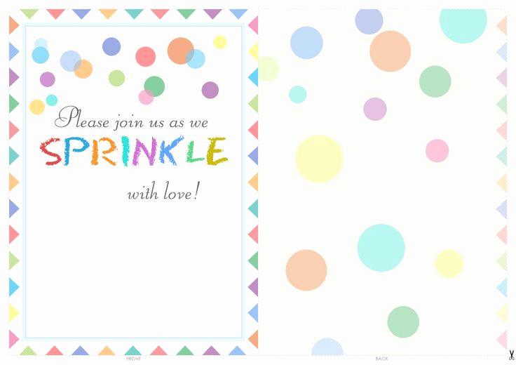 Free Baby Sprinkle Invitation Templates Luxury Free Printable Baby Sprinkle Invitations