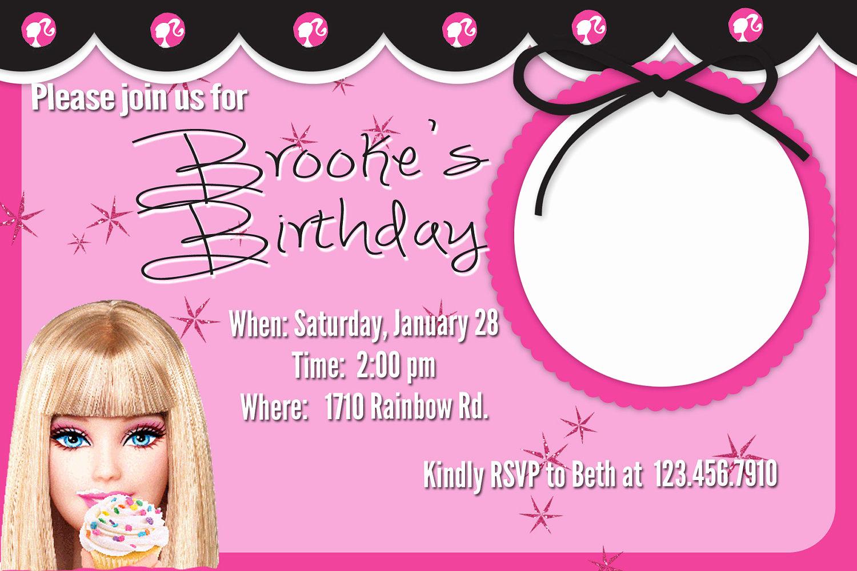 Free Barbie Invitation Templates Beautiful Barbie Invitation Templates