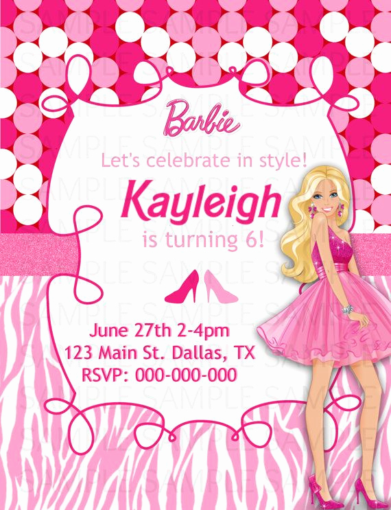Free Barbie Invitation Templates Best Of 8 Best Barbie Invitation Cards Images On Pinterest
