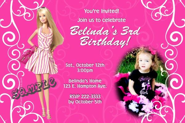 Free Barbie Invitation Templates Best Of Barbie Swirls Birthday Invitations