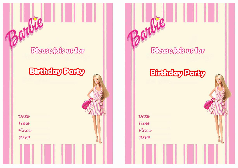 Free Barbie Invitation Templates Best Of Free Printable Barbie Invitations