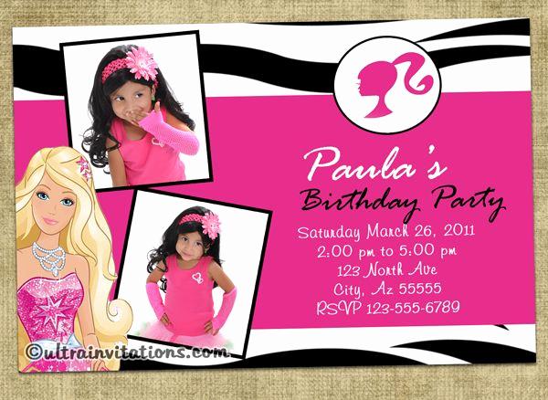 Free Barbie Invitation Templates Elegant Best 25 Barbie Invitations Ideas On Pinterest