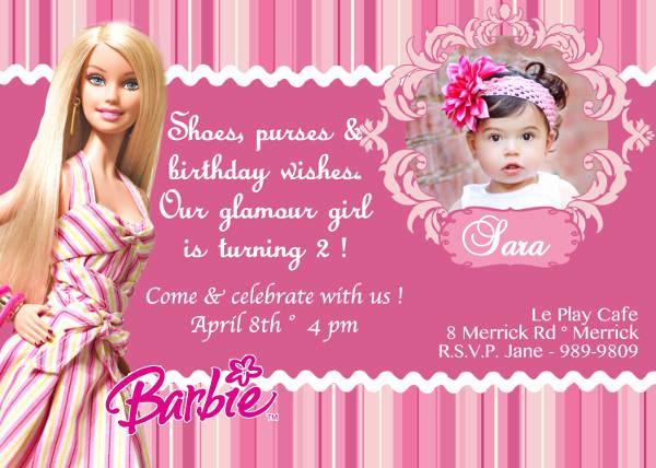Free Barbie Invitation Templates Fresh 71 Printable Birthday Invitation Templates Word Psd